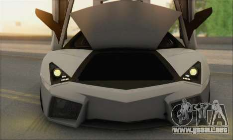 Lamborghini Reventon para visión interna GTA San Andreas