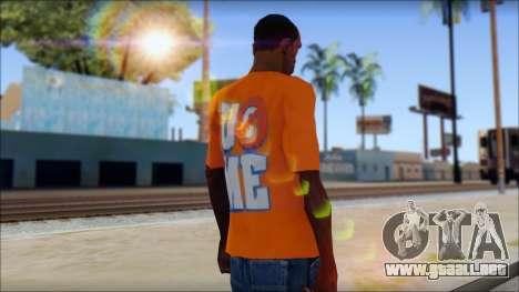 John Cena Orange T-Shirt para GTA San Andreas segunda pantalla