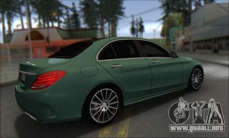 Mercedes-Benz C250 V1.0 2014 para GTA San Andreas vista hacia atrás