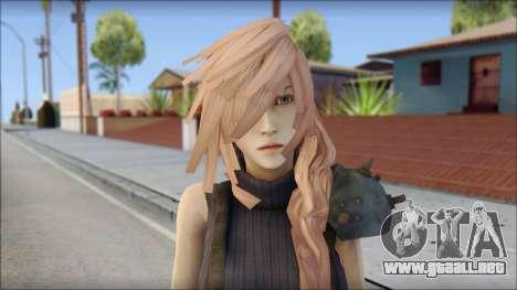 Final Fantasy XIII - Lightning Lowpoly para GTA San Andreas tercera pantalla