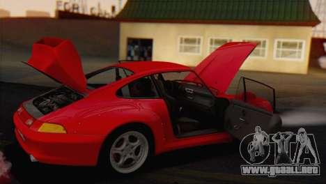 Porsche 911 GT2 (993) 1995 V1.0 EU Plate para vista lateral GTA San Andreas