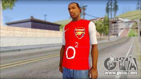 Arsenal Shirt para GTA San Andreas