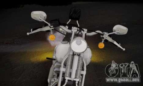 Harley-Davidson FXSTS Springer Softail para GTA San Andreas vista posterior izquierda