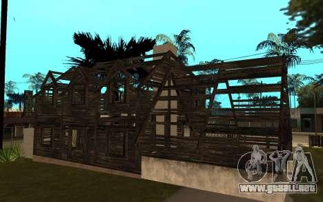 La casa de Call of Duty 4 para GTA San Andreas segunda pantalla