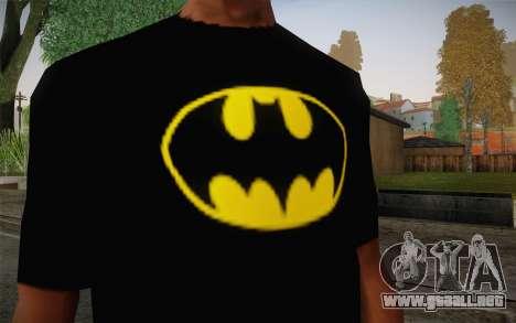 Batman Swag Shirt para GTA San Andreas tercera pantalla