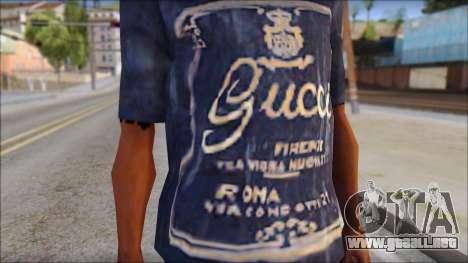 Gucci T-Shirt para GTA San Andreas tercera pantalla