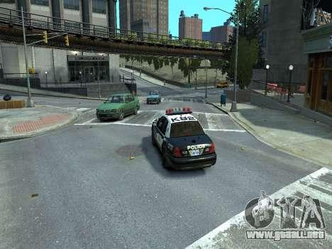 Ford Crown Victoria Police NYPD 2014 para GTA 4 Vista posterior izquierda