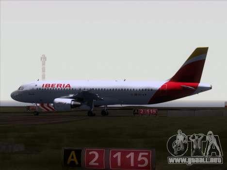 Airbus A320-214 Iberia para GTA San Andreas vista hacia atrás