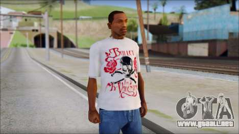 Bullet For My Valentine White Fan T-Shirt para GTA San Andreas