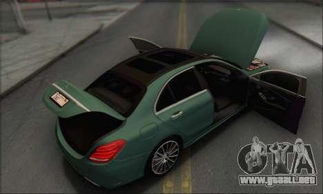 Mercedes-Benz C250 V1.0 2014 para el motor de GTA San Andreas