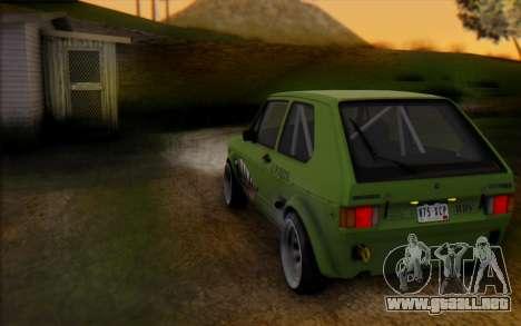 Volkswagen Golf Mk I para GTA San Andreas vista posterior izquierda