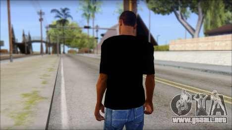 Trapheim T-Shirt Mod para GTA San Andreas segunda pantalla