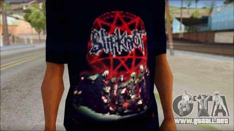 SlipKnoT T-Shirt v3 para GTA San Andreas tercera pantalla