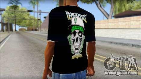 A7X New T-Shirt para GTA San Andreas segunda pantalla