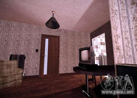 El interior de la vivienda para GTA San Andreas segunda pantalla