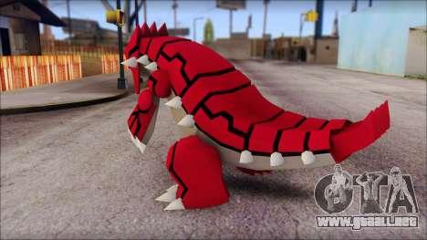 Groudon Pokemon para GTA San Andreas segunda pantalla