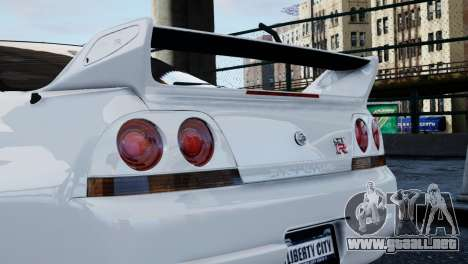 Nissan Skyline R33 1995 para GTA 4 visión correcta