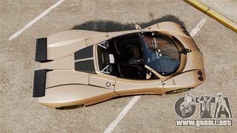 Pagani Zonda C12S Roadster 2001 v1.1 para GTA 4 visión correcta