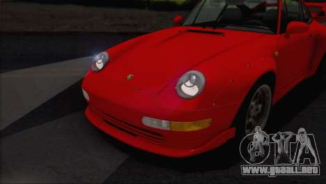 Porsche 911 GT2 (993) 1995 V1.0 EU Plate para vista inferior GTA San Andreas