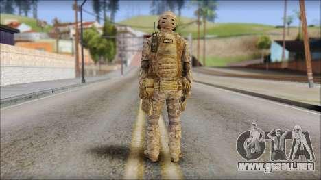 Desert SFOD from Soldier Front 2 para GTA San Andreas segunda pantalla