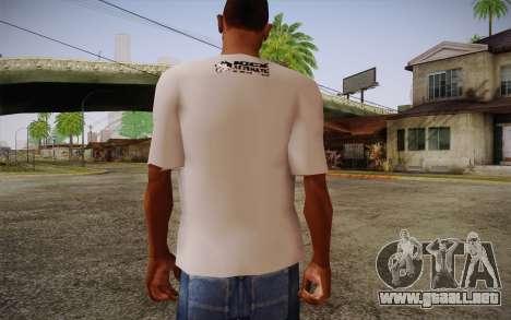 Nick Automatic T-Shirt para GTA San Andreas segunda pantalla
