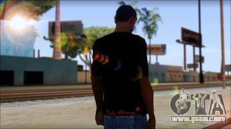 Ed Hardy Lion T-Shirt para GTA San Andreas segunda pantalla