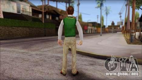 Donald from Bully Scholarship Edition para GTA San Andreas tercera pantalla