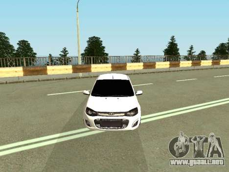 Lada Kalina 2 para GTA San Andreas vista hacia atrás