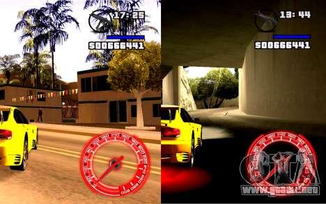Velocímetro Concepto StyleV16x9 para GTA San Andreas segunda pantalla
