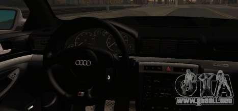 Audi S4 Stock 2000 para la visión correcta GTA San Andreas