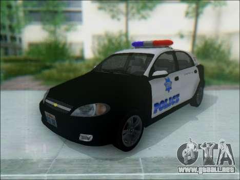 Chevrolet Lacetti Police para GTA San Andreas