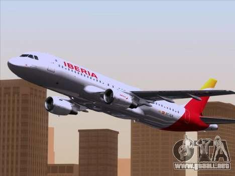 Airbus A320-214 Iberia para vista lateral GTA San Andreas