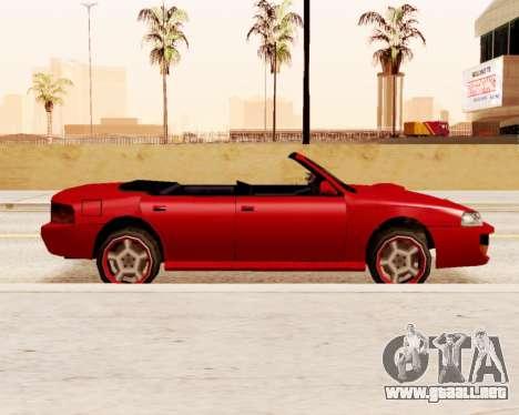 El Sultán Convertible para GTA San Andreas left