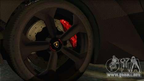 Lamborghini Sesto Elemento Concept 2010 para GTA San Andreas vista hacia atrás
