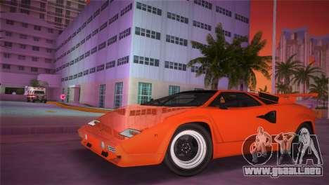 Lamborghini Countach LP5000 QV TT Custom para GTA Vice City vista lateral izquierdo