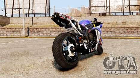 Yamaha YZF-R1 PJ1 para GTA 4 Vista posterior izquierda