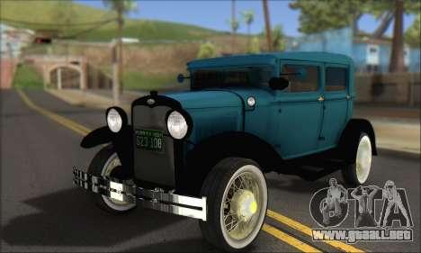 Ford A 1930 para GTA San Andreas