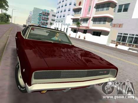 Dodge Charger RT 426 1968 para GTA Vice City vista posterior