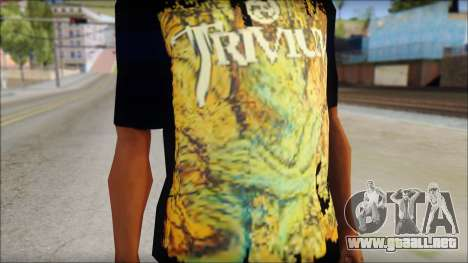 Trivium T-Shirt Mod para GTA San Andreas tercera pantalla