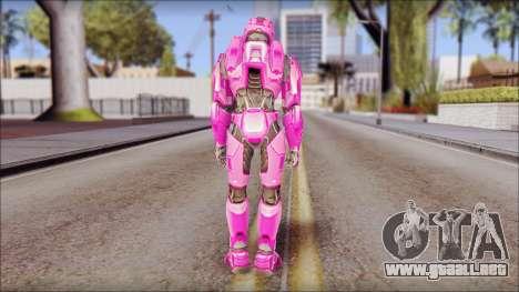 Masterchief Pink from Halo para GTA San Andreas tercera pantalla