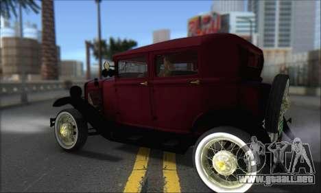 Ford A 1930 para GTA San Andreas vista posterior izquierda