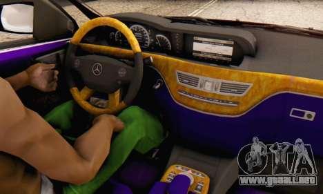 Mercedes-Benz R350 para la vista superior GTA San Andreas