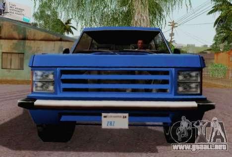 Huntley Coupe para GTA San Andreas vista hacia atrás
