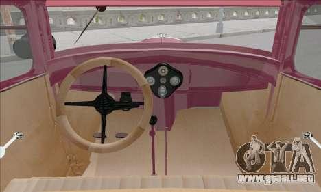 Ford A 1930 para visión interna GTA San Andreas