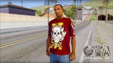 Skull T-Shirt para GTA San Andreas