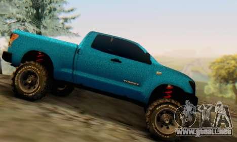 Toyota Tundra OFF Road Tuning Blue Star para GTA San Andreas left
