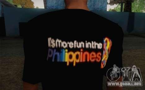 Its More Fun In Philippine T-Shirt para GTA San Andreas tercera pantalla