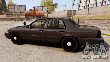 Ford Crown Victoria Sheriff [ELS] Unmarked para GTA 4 left