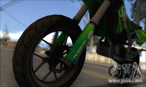 Sanchez from GTA V - Supermoto para GTA San Andreas vista posterior izquierda