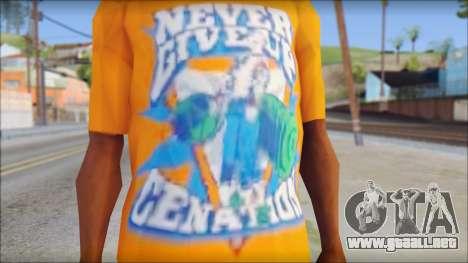 John Cena Orange T-Shirt para GTA San Andreas tercera pantalla
